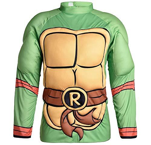 Cameo Belt - Amscan Teenage Mutant Ninja Turtles Raphael Muscle Halloween Shirt for Men, One Size