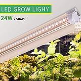 Monios-L T8 LED Grow Light 2FT, 144W(6×24W) High