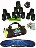 Speed Stacks Custom Combo Set - The Works: 12 Pro Series BLACK 4'' Cups, Cup Keeper, Quick Release Stem, Pro Timer, Gen 3 Mat, Gear Bag & $100 Design Magnetic Credit Card Size Address Book