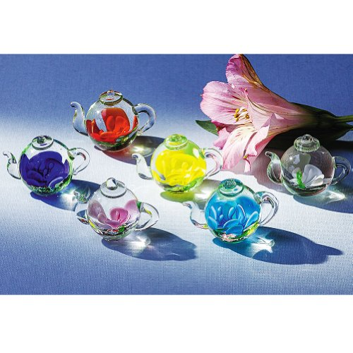 Smithsonian Mini Art Glass Teapots
