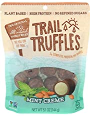 TRAIL TRUFFLES – Dark Chocolate Nut-Butter Filled Protein Bites – Healthy, Plant Based, Gluten Free, Dairy Free, Soy Free, Non-GMO Snacks