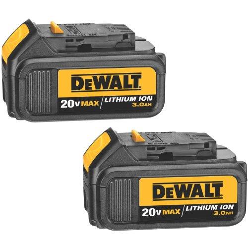 DEWALT DCB200 20-Volt MAX Li-Ion 3.0 Ah Battery 2-Pack with Dewalt Dwht0046 Blades by DEWALT