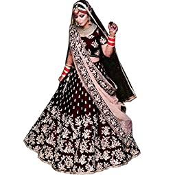 Vetrokart Women's Silk Blend Semi-Stitched Lehenga Choli