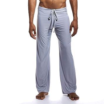 Melodycp Pantalones Largos de Yoga para Hombres ...