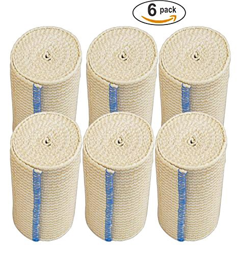NexSkin Elastic Bandage Wrap Hook Loop Closure, 4