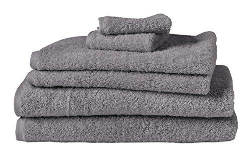 Coyuchi Cloud Loom Organic 6pc Towel Set, BT, HT, WC, Slate by Coyuchi