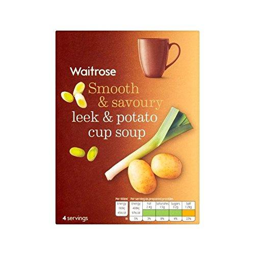 Potato & Leek Cup Soup Waitrose 4 x 25g - Pack of 6