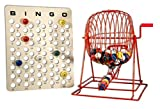 Official Professional-Use Extra Large Red Plastic Coated Bingo Cage Set w/Ping Pong Bingo Balls, 19'' High by Mr. Chips, Inc