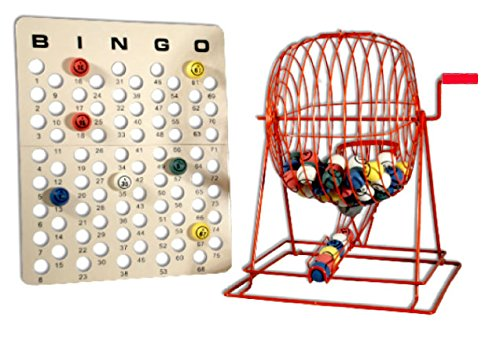 Official Professional-Use Extra Large Red Plastic Coated Bingo Cage Set w/Ping Pong Bingo Balls, 19'' High by Mr. Chips, Inc by Mr. Chips (Image #7)