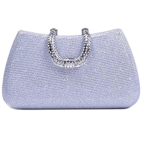 Minimalista Paquete De Banquetes Europa Y Estados Unidos Moda Bolsos De Noche Bolsos Con Diamantes Bolsos Silver