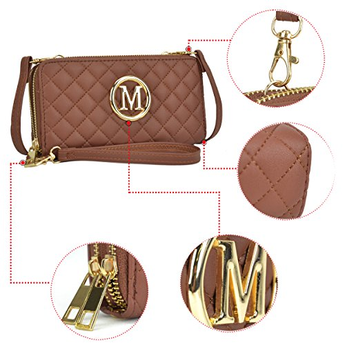 Card Strap Case Wallet Women Wallet Classic Women~Fashion pt With Zip Around for MMK Double w1050 layer Ma Wristlet w1f5qP6