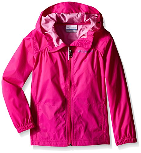 Columbia Big Girls Switchback Rain Jacket, Haute Pink, Small