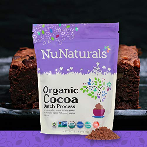 Cocoa Red (NuNaturals Premium Organic Dutch Processed Cocoa Powder for Baking, Non-GMO, Fair Trade Cocoa (1 lb))