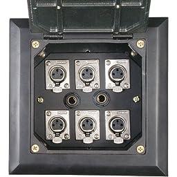 Dayton Audio FB6XK Deep Floor Box with 6 XLR Black 6 x 6