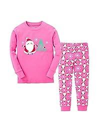 "kidsmall ""Santa Girls Boys Christmas Pajamas Baby Sleepwear Size 2T-7T"