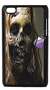 Back case for iPod touch4,cases for iPod touch4,iPod touch4 cover case,DIY the walking dead case with Bknso_0155707(Black).