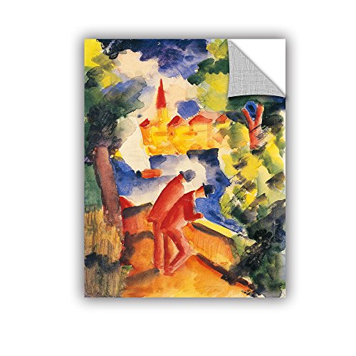 ArtWall Franz Marc's Man on Lakeside Terrace Art Appeelz Removable Graphic Wall Art, 18