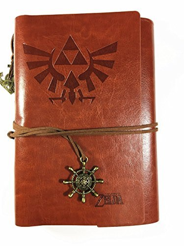 Vintage PU Leather Notebook for Diary, Travel journal and Note,card holder-Legend of Zelda (Basic)