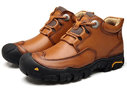 TDA Lace Outdoor Rubber Climbing Shoes Hiking Brown Sole Closed Men's Loafers Synthetic Casual Toe up rfrqCw