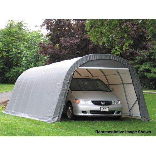 ShelterLogic 76632 Round Style Shelter Shed, Outdoor Stuffs