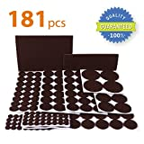 Kitchen Countertop Chairs X-PROTECTOR Premium ULTRA LARGE Pack Felt Furniture Pads 181 piece! Felt Pads Furniture Feet ALL SIZES  Your Best Wood Floor Protectors. Protect Your Hardwood Flooring with 100% Satisfaction!