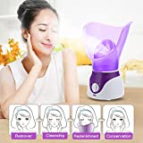 Bromose Face Steamer Warm Mist Moisturizing Facial Steamer Hot Mist Humidifier Hot Mist Clear Home SPA Skin Care for Pores Acne Blackheads Interior Nano Sprayer Face Humidifier