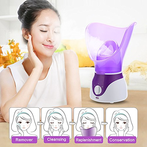 Bromose Face Sauna Nano Ionic Facial Steam with Precise Temperature Control - 30 Minutes of Steam - Humidifier - Cleaning Blackheads Pores Rejuvenate and Moisturize the Skin for a Youthful Complexion