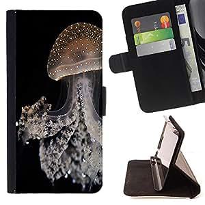 Dragon Case- Caja de la carpeta del caso en folio de cuero del tir¨®n de la cubierta protectora Shell FOR Samsung GALAXY ALPHA G850 SM-G850F G850Y G850M- Jellyfish