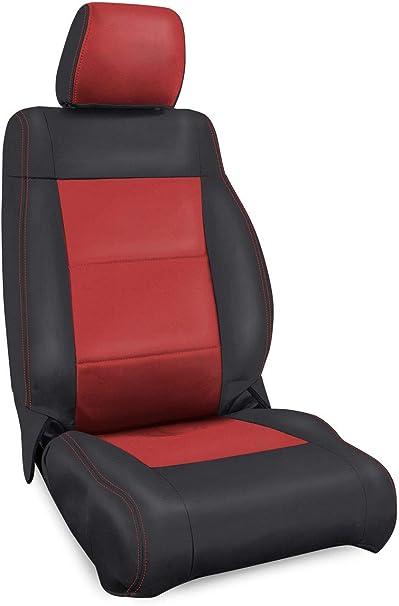 Front /& Rear Black Red Neoprene Seat Covers for Jeep Wrangler JK 07-10 4 Door