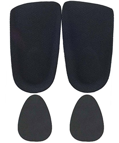 Ski & Snowboard Boot Heel Wedges For Shoes That Are Too Big - 1/4 Inch Pad Inserts For Men and Women For Plantar Fasciitis (A Pair + 2 Fillers)