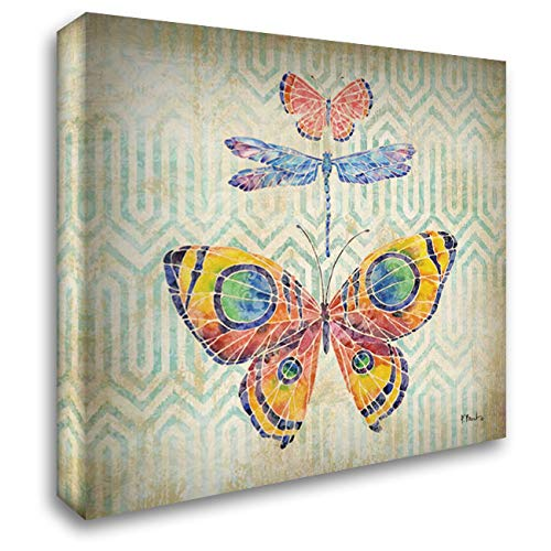 (Enchanting Wings I 28x28 Gallery Wrapped Stretched Canvas Art by Brent, Paul)