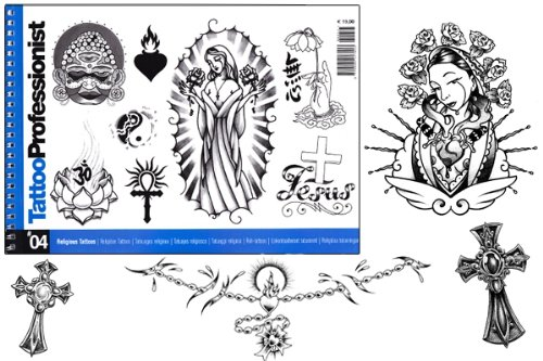 Tattoo Professionist #4 Religious Tattoos 84-Page Flash Book]()