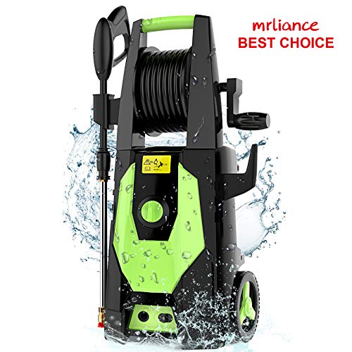 mrliance-3650PSI-245GPM-Electric-Pressure-Washer-Power-Washer-1800W-High-Pressure-Washer-Cleaner-Machine-with-Hose-Reel-and-4-Adjustable-Nozzle-Green