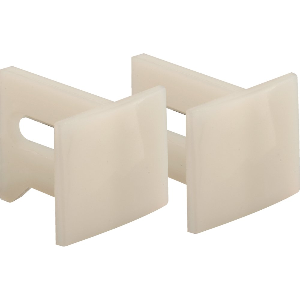 Prime-Line Products N 7015 Pocket Door Bottom Guides, 1-1/8 in., Plastic, White (Pack of 2)