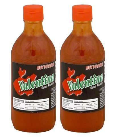 - Valentina Black Label Hot Sauce - 12.5 oz. (Pack of 2) (Extra Hot)