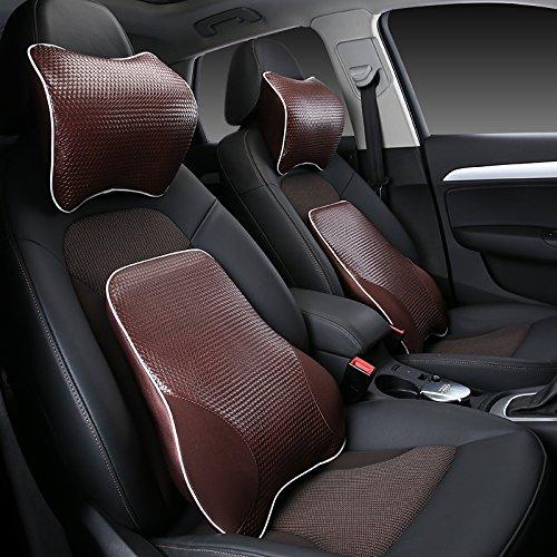 Meiyiu Car Lumbar Back Support Pillow Space Memory Cotton Car Cushion Beige by Meiyiu (Image #8)