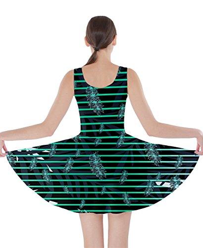 CowCow - Vestido - para mujer Verde Mint Palm XXXX-Large