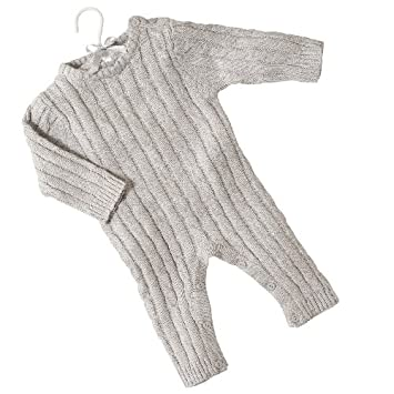 db1f8cb04d41 Amazon.com   Cable Knit Jumpsuit. Grey. 6M.   Infant And Toddler ...