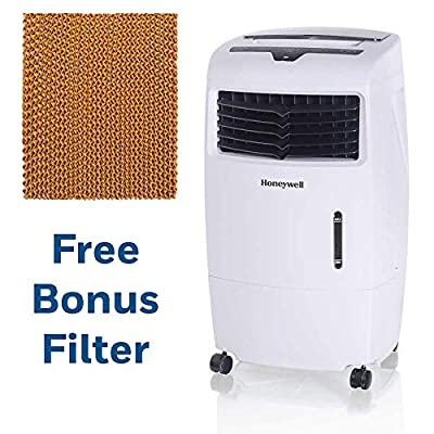 Honeywell 500 CFM White with Remote Control and an Extra Honeycomb Filter Indoor Evaporative Air Cooler,