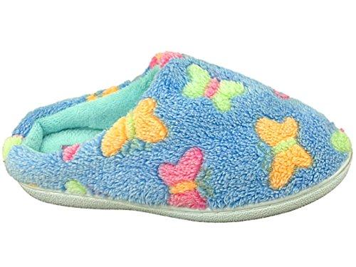 Ladies Flutter Girls Cosy Slip 8 On Warm Butterfly Size Mule Shoe Soft Fleece Slipper Blue 3 rWTrwpaq