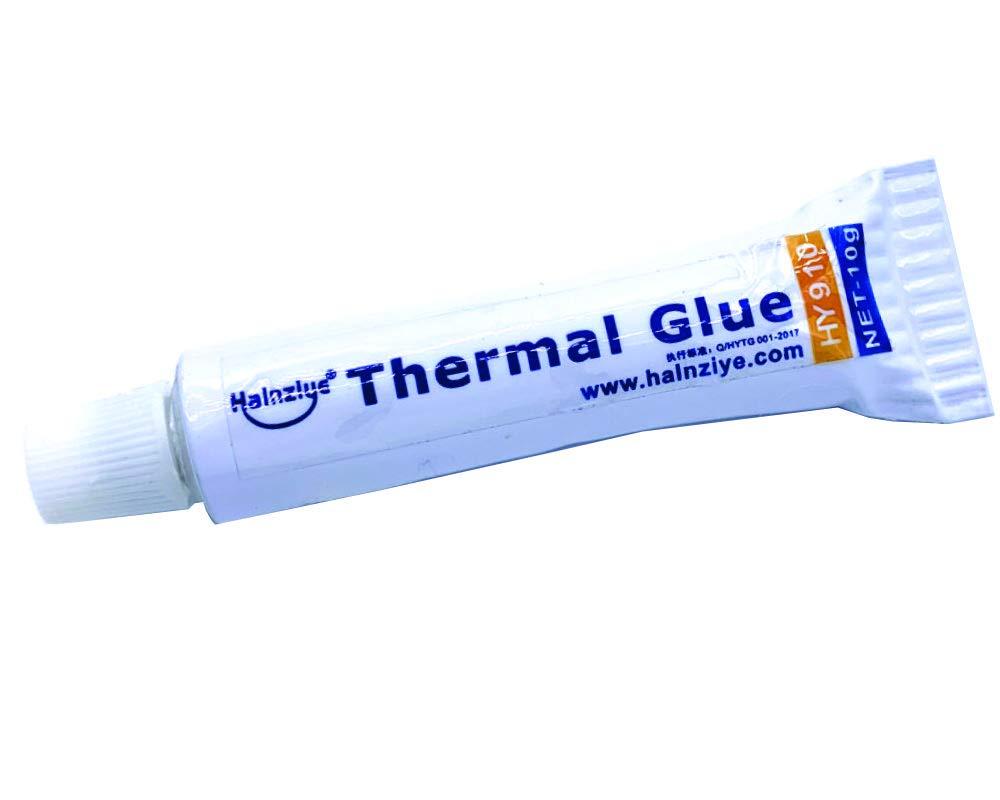 Halnziye 10Gram Thermal Conductive Glue Silicone Plaster Viscous Adhesive Cooling Compound for LED GPU Chipset Heatsink
