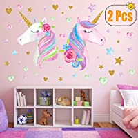 Unicorn Wall Decor,Removable Unicorn Wall Decals Stickers Decor for Gilrs Kids Bedroom Nursery Birthday Party Favor