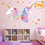 2 Sheets Large Size Unicorn Wall Decor,Removable Unicorn Wall Decals Stickers Decor for Gilrs Kids Bedroom Nursery Birthday Party Favor(Neasyth Store 9.99 $) (2 PCS): more info