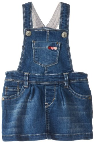 Levi's Baby Girls Denim Jumper, Iced Blue, 6-9 Months (Baby Levi Jeans Girls)