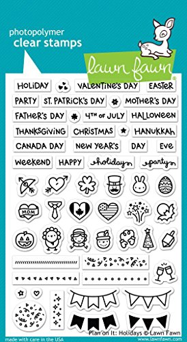 Lawn Fawn Clear Stamp Plan On It Holidays