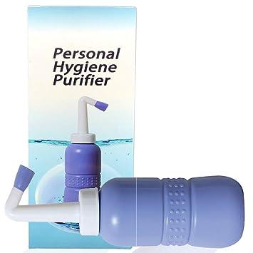 Pulverizador de bidé portátil, botella de bidé de viaje para higiene personal de mano,
