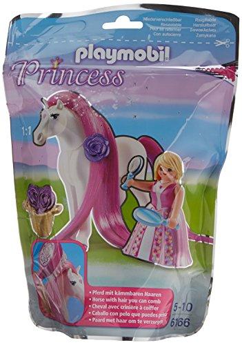 Playmobil 6166 princesse rose avec cheval coiffer la caverne du jouet - Princesse cheval ...
