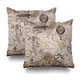 Kutita Decorativepillows Covers 18 x 18 inch Throw Pillow Covers,Steampunk Pattern Double-sided Decorative Home Decor Pillowcase Garden Sofa Bedroom Car Nice Gift