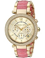 Michael Kors Womens Parker Gold-Tone Watch MK6363