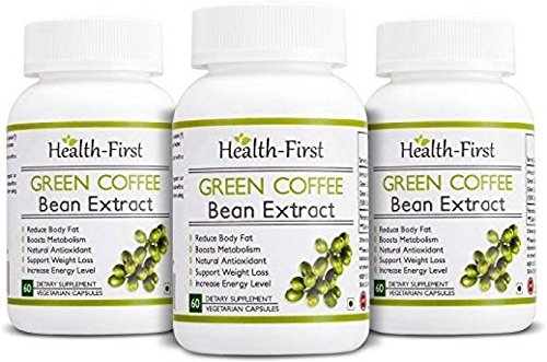 Green coffee bean Extract 50 % GCA Weight Loss Supplement 800 mg 180 capsules